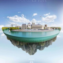 Bordeaux illustration 3D