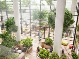 Perspective 3D des Terrasses Victor Hugo, par Guillaume Favre