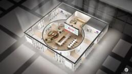 Perspective 3D du Stand ATLANTIC, pour AKDV, par Guillaume Favre